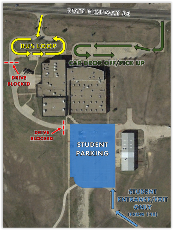 For the safety of the students there have been some changes regarding student drop off and parking.