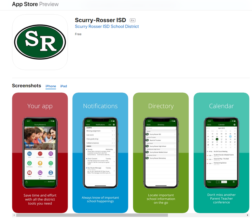 SRISD in the App Store